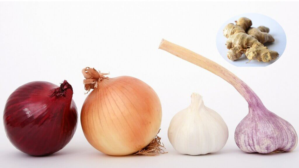 Image showing Ginger Garlic & onion for small scale business of their paste