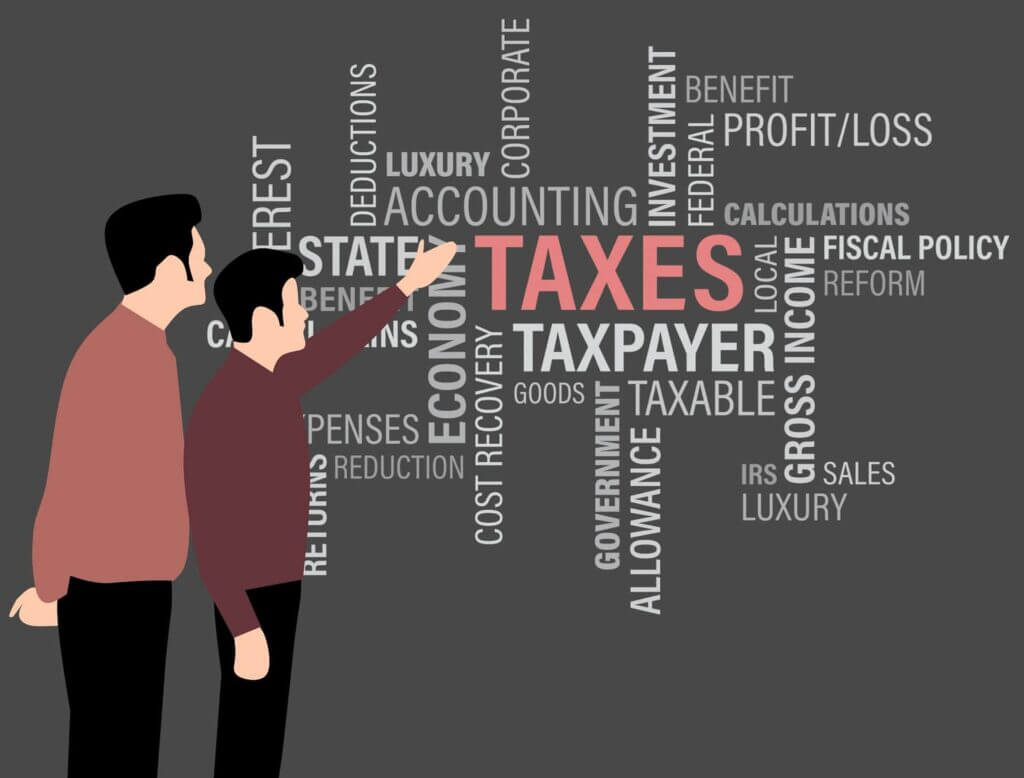 Image Showing Person Pointing on Taxes & Taxpayers problem